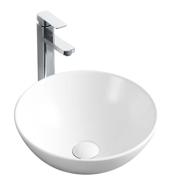 Rodez Above Counter Round Basin - Matte White