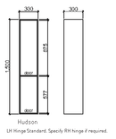Timberline Hudson Tallboy - 2 Door, Wall Hung