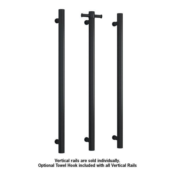 Thermorail Vertical Heated Bar Matte Black VS900HB