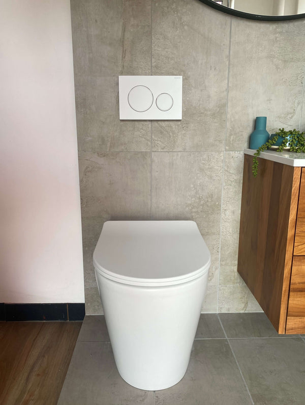 Vega Matte White Wall Faced Pan, Geberit Sigma8 Cistern & Sigma Matte White Buttons