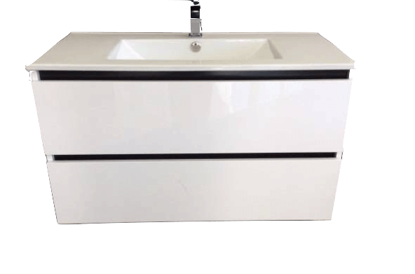 Swift All-Drawer Twin Wall Hung Vanity, 900mm