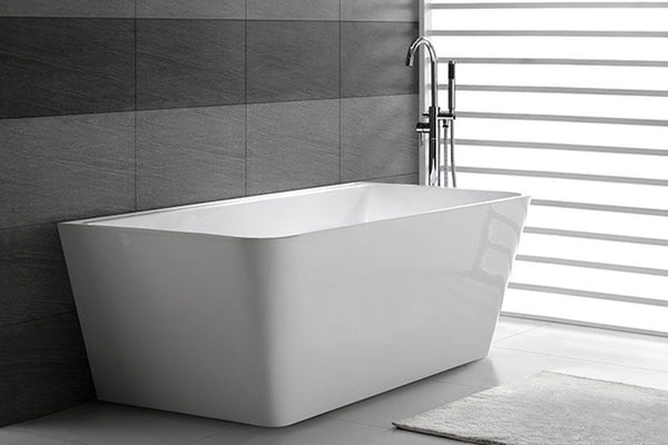Decina Aria Freestanding Back To Wall Bath - Tile Bead - 1500mm/1700mm