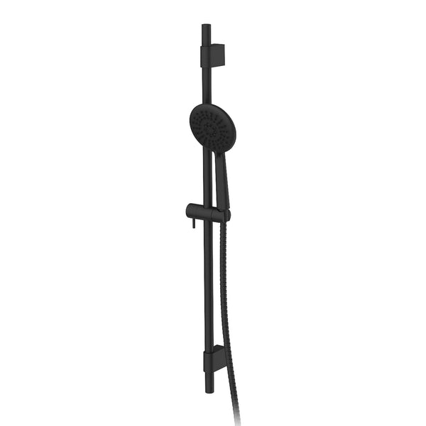 Greens Astro Adjustable Rail Shower - Matte Black