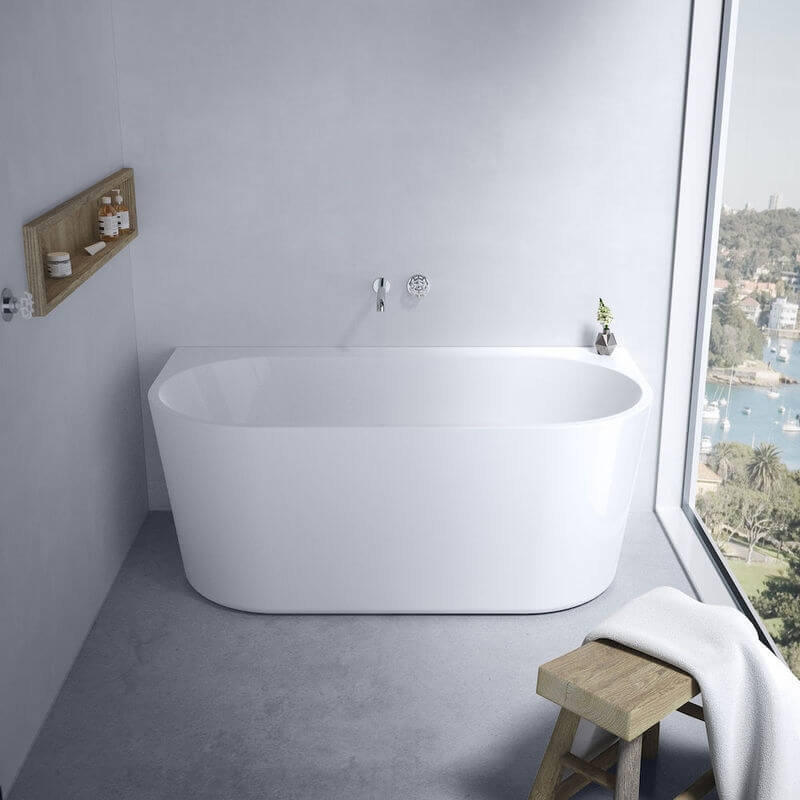 Caroma Urbane II 1400mm Back to Wall Freestanding Bath White