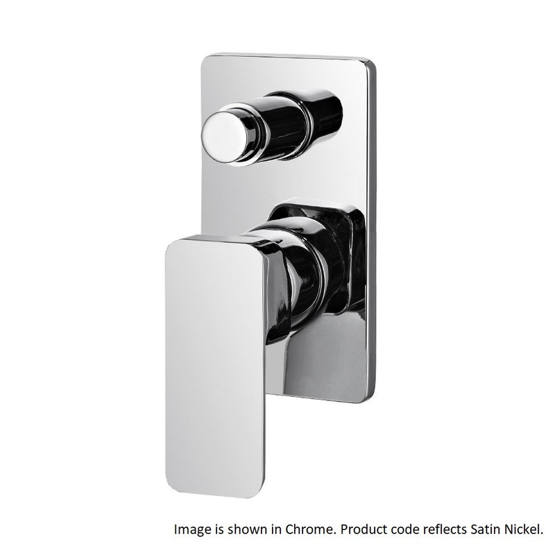 Streamline Axus Bath Shower Mixer with Diverter - SATIN NICKEL