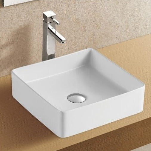 Bergamo Square Above Counter Basin - Matte White