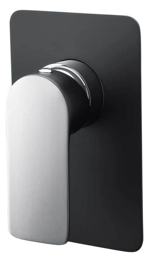Ascent Shower/Bath Mixer, Matte Black/Chrome