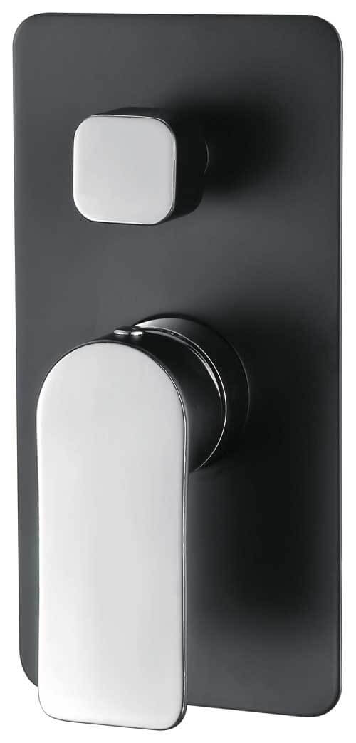 Ascent Shower/Bath Mixer with Diverter, Matte Black/Chrome