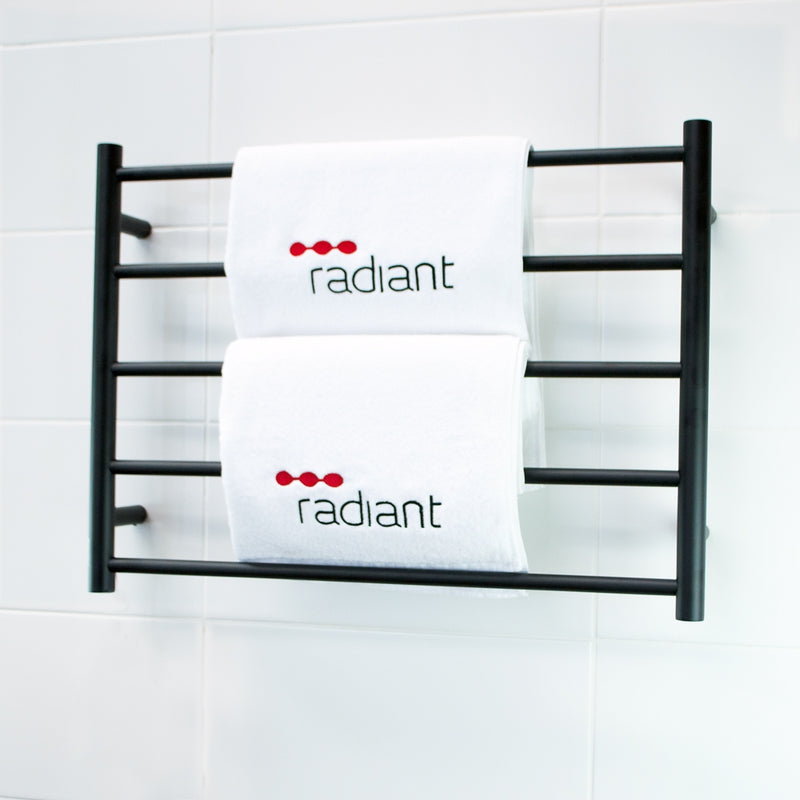 Radiant BRTR03 Round Heated Ladder - 750 x 550, Matte Black