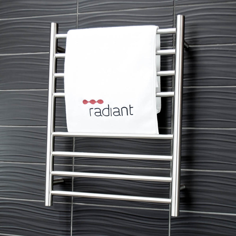 Radiant BRU-RTR530 Round Heated Ladder 530 x 700, Satin Brushed