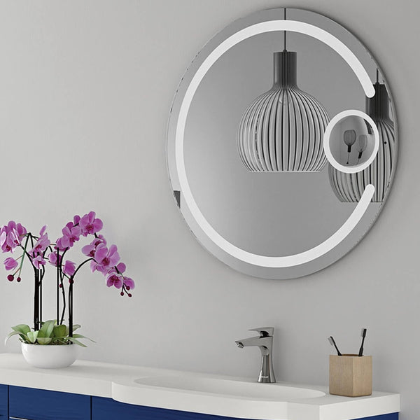 Ablaze Contractor Back-lit 800mm Round Mirror