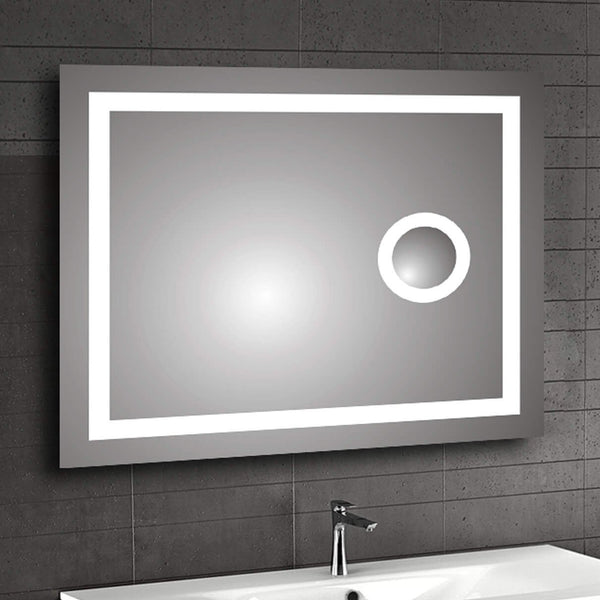 Ablaze Contractor Back-lit Mirror with Magnifier