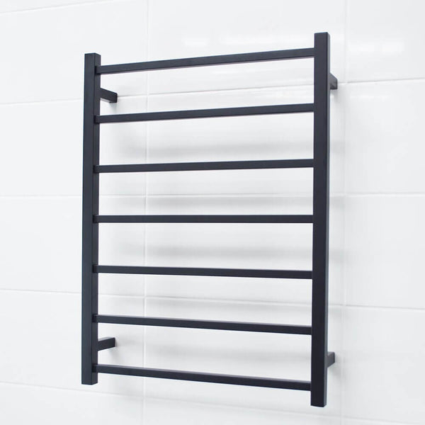 Radiant BSTR01 Square Heated Ladder 600x800 Matte Black