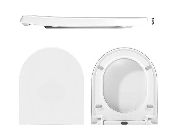 Dell Raised Height Rimless Back To Wall Suite - White
