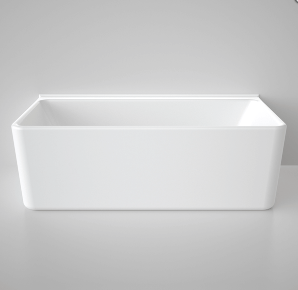 Cube 1750mm Back to Wall Freestanding Bath