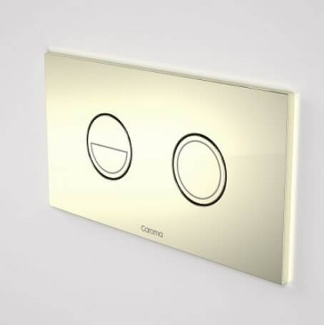 Caroma Invisi Series II® Round Dual Flush Plate & Buttons (Metal) Gold