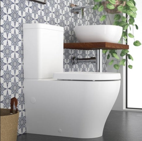Caroma Luna Cleanflush Wall Faced Toilet Suite