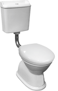 Colonial Feature Toilet Suite - White Seat