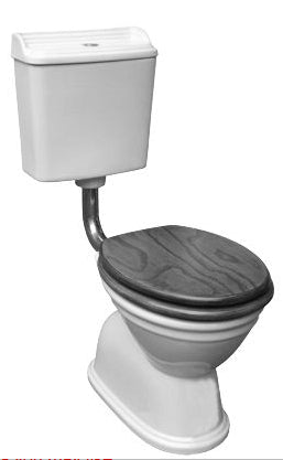 Colonial Feature Toilet Suite - Mahogany Chrome