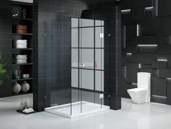 Custom Fully Frameless Shower Screen 600-900mm