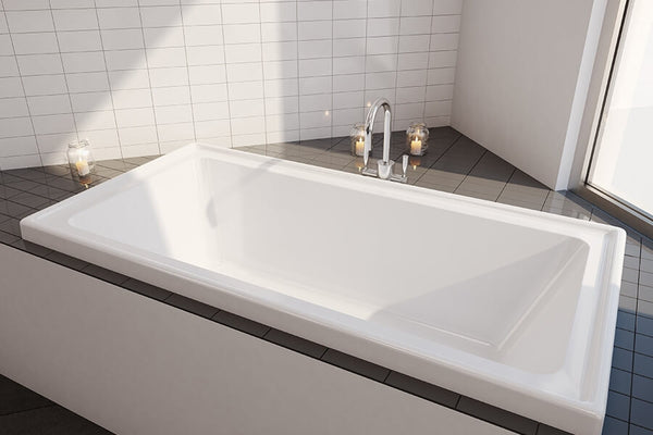 Decina Cortez Inset Bath, White 1520mm/1670mm