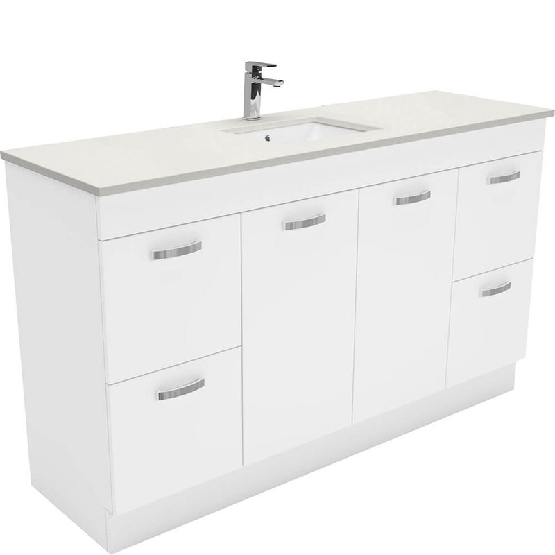 Dianne 1500mm Floor Standing Vanity Unit with Stone Top & Undermount Basin
