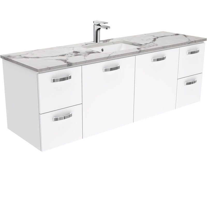 Dianne 1500mm Wall Hung Vanity Unit with Stone Top & Undermount Basin