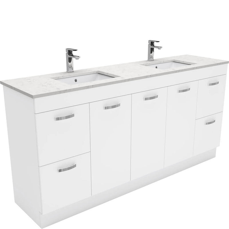 Dianne 1800mm Floor Standing Vanity Unit with Stone Top & Undermount Basin - Double Bowl