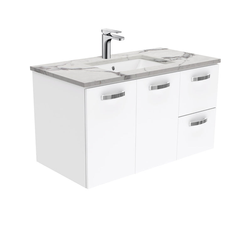 Dianne 900mm Wall Hung Vanity Unit with Stone Top & Undermount Basin