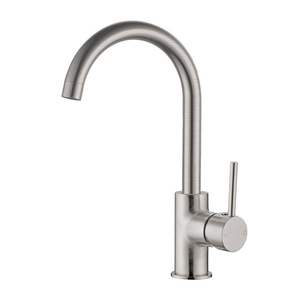 Dolce Gooseneck Kitchen Mixer - Brushed Nickel