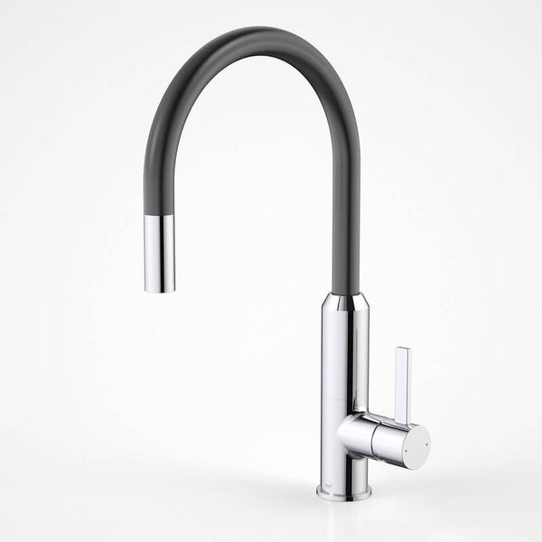 Dorf Vixen Retractable Sink Mixer - Black