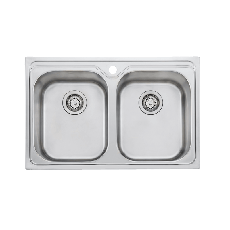 Oliveri Diaz Undermount/Top Mount Double Bowl Sink