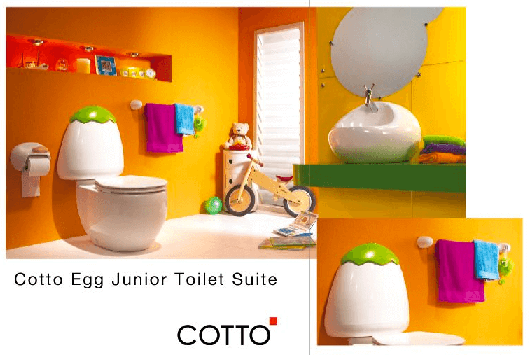Egg Junior Close Coupled Childrens Toilet Suite