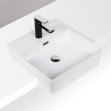 Essence Perugia Semi Recessed Basin 1th - White