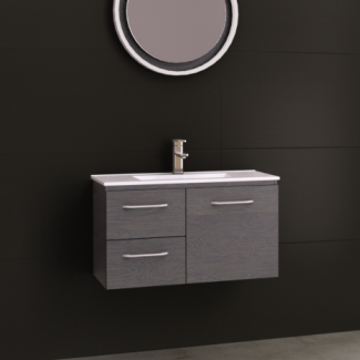 Timberline Florida Ensuite 800mm Wall Hung Vanity