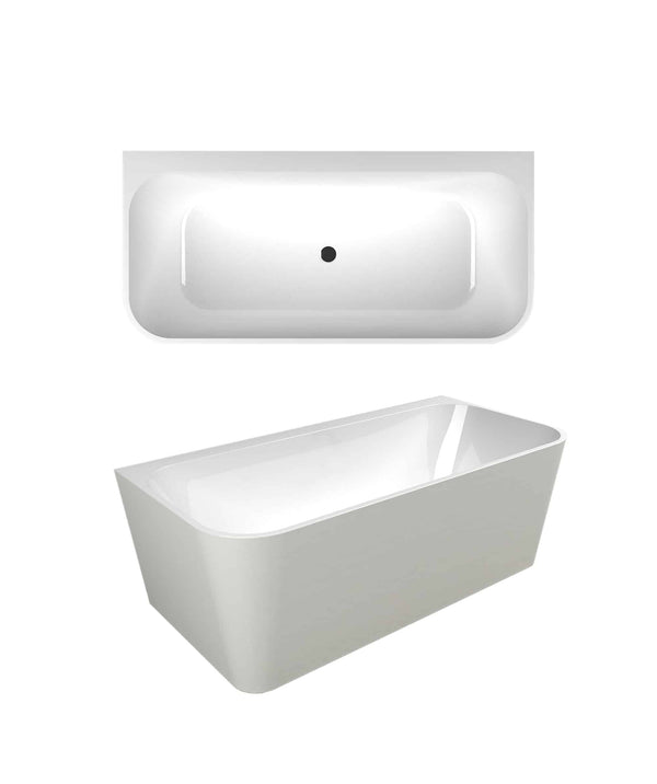 Fotia 1700 Back To Wall Freestanding Bath