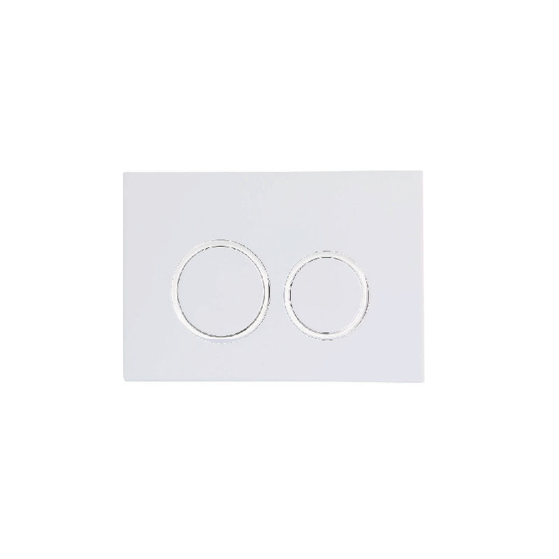 KDK Round Flush Plate & Buttons White