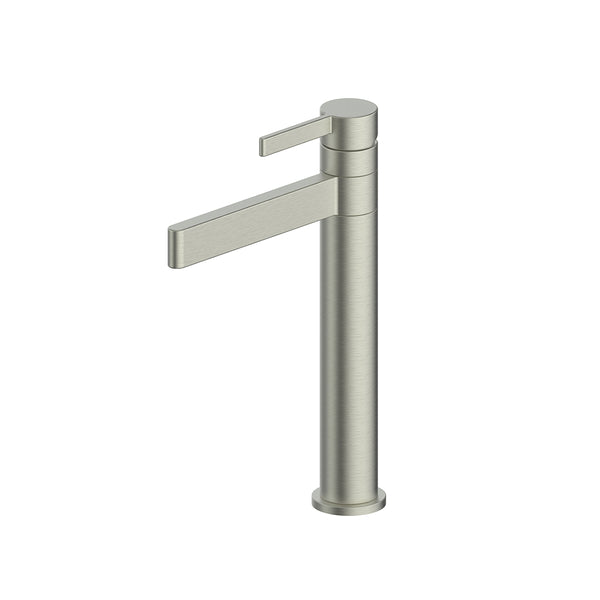 Greens Glint Tower Basin Mixer - Swivel, Brushed Nickel