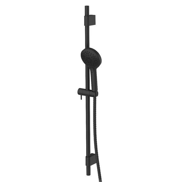 Greens Glint AirFlo Adjustable Rail Shower - Matte Black