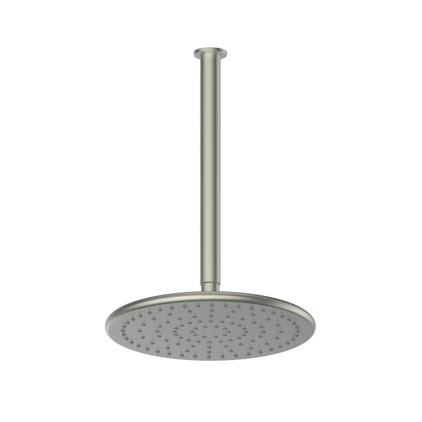 Greens Glint Overhead Ceiling Shower - Brushed Nickel