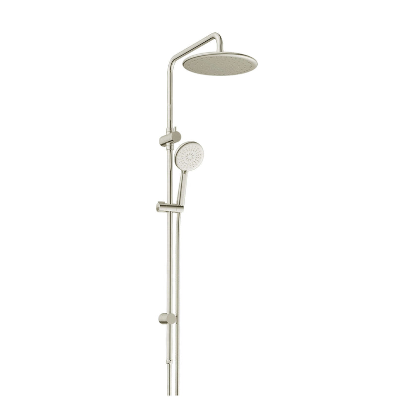 Greens Astro Twin Rail Shower - Brushed Nickel
