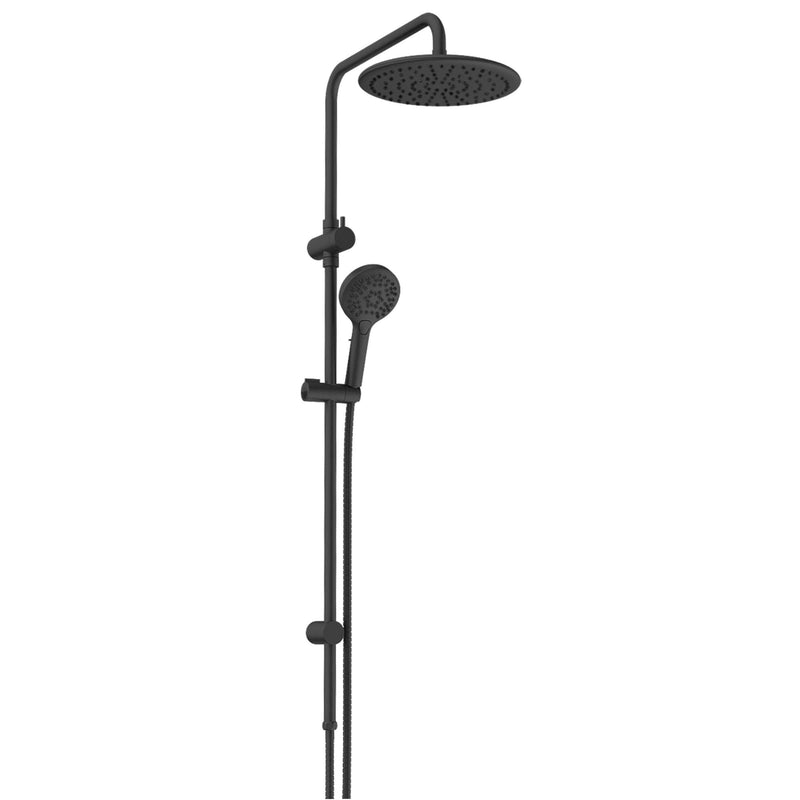 Greens Glint AirFlo Twin Rail Shower - Matte Black