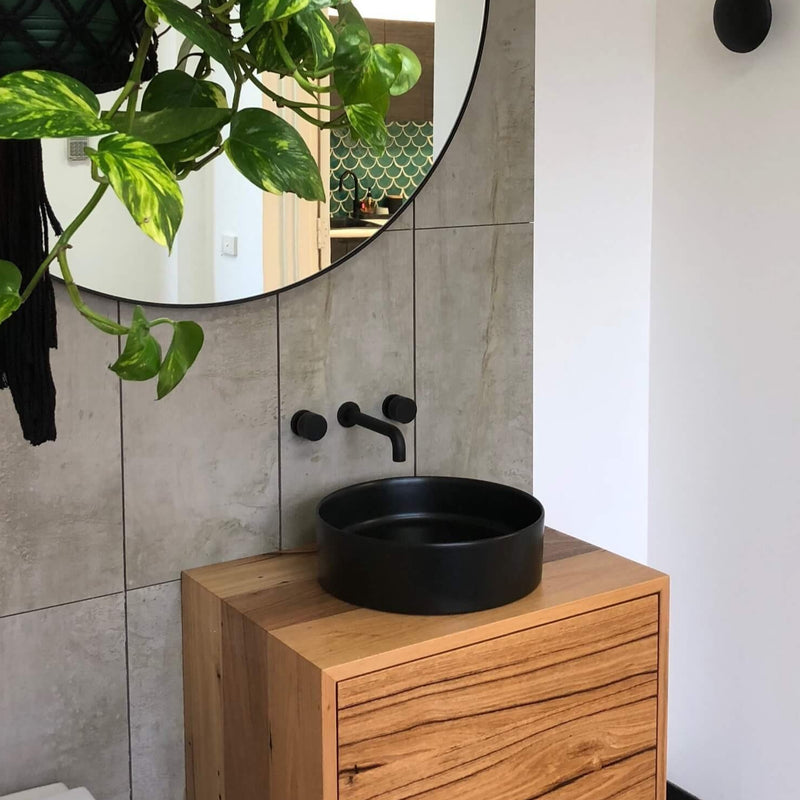 Kara Wall Basin Set - Matte Black