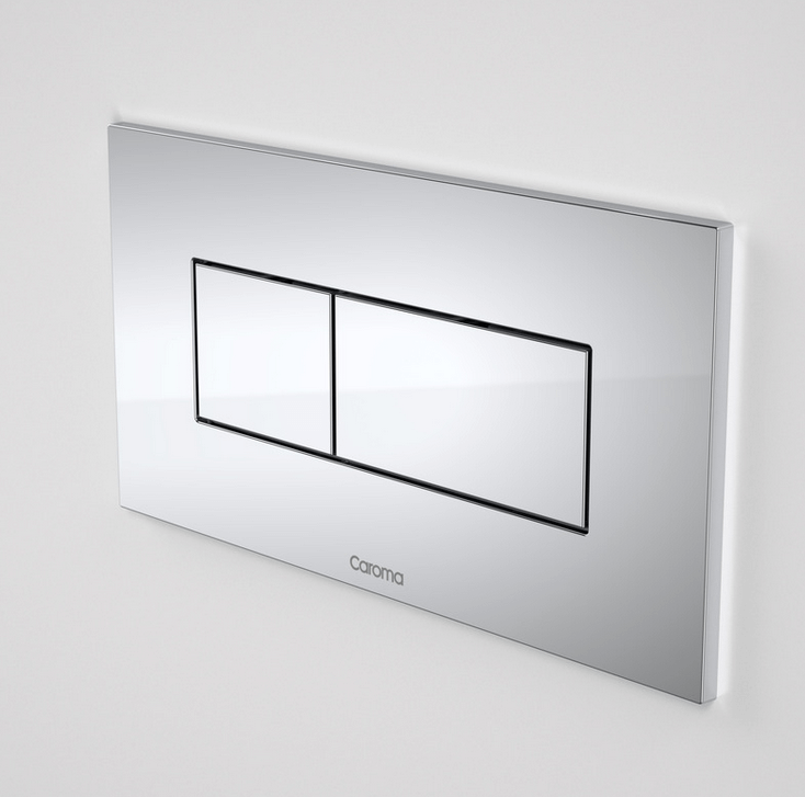 Caroma Invisi Series II® Metal Rectangular Dual Flush Plate & Buttons