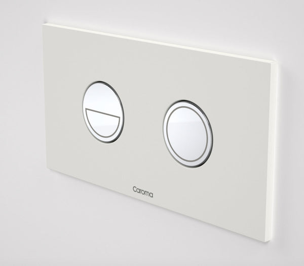 Invisi Series II® Round Dual Flush Plate & Buttons (Metal) White / Chrome Buttons