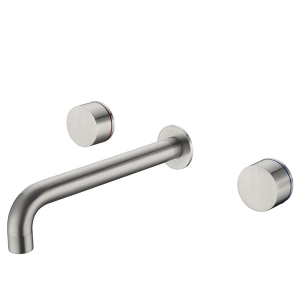 Kara Wall Basin Set 217mm - Brushed Nickel
