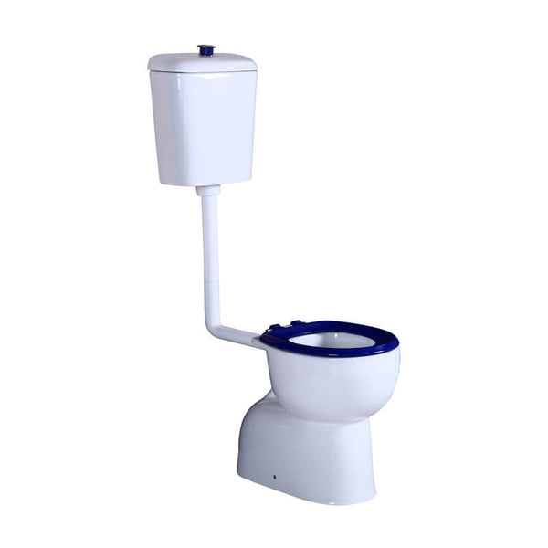 KDK 024 Care Toilet Suite - Blue Seat