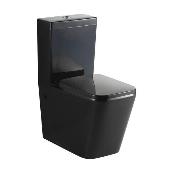 KDKB 003 Black Wall Faced Toilet Suite
