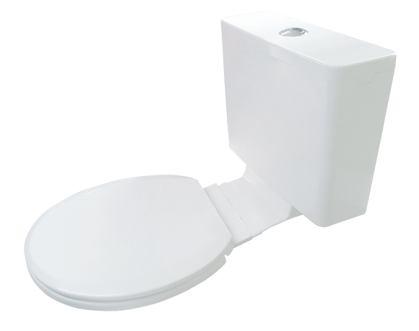 Kuga Plastic Cistern with Heavy Duty Soft Close Seat