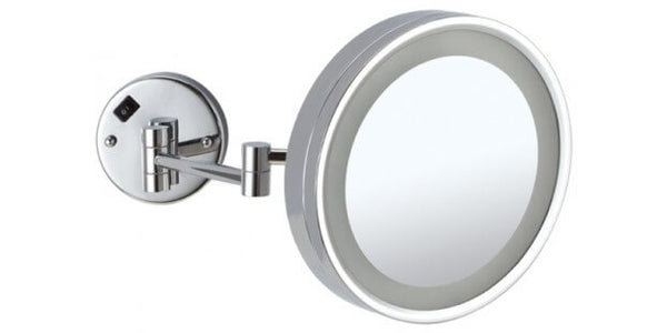 Ablaze Chrome Magnifying Mirror with Light - Round